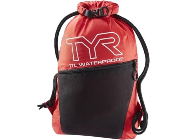 TYR Alliance Waterproof Sackpack, red